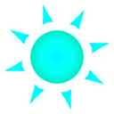 download Sun Sole clipart image with 135 hue color