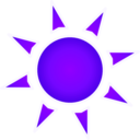 download Sun Sole clipart image with 225 hue color