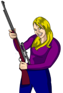 Girl With Rifle
