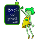download School Days clipart image with 90 hue color