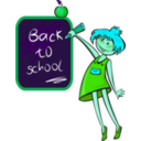 download School Days clipart image with 135 hue color