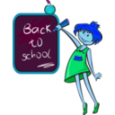 download School Days clipart image with 180 hue color