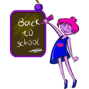 download School Days clipart image with 270 hue color