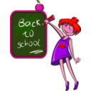 download School Days clipart image with 315 hue color