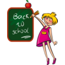 download School Days clipart image with 0 hue color