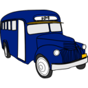 download Bus clipart image with 225 hue color