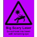 download Scary Laser clipart image with 225 hue color