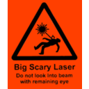 download Scary Laser clipart image with 315 hue color