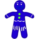 download Gingerbread Man clipart image with 225 hue color