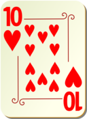Ornamental Deck 10 Of Hearts