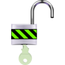 download Padlock Open clipart image with 45 hue color