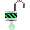 download Padlock Open clipart image with 90 hue color