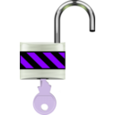 download Padlock Open clipart image with 225 hue color