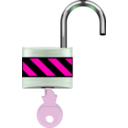 download Padlock Open clipart image with 270 hue color