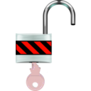 download Padlock Open clipart image with 315 hue color
