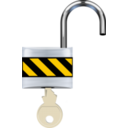 download Padlock Open clipart image with 0 hue color