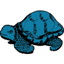 download Tortoise clipart image with 135 hue color