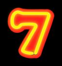 Neon Numerals 7