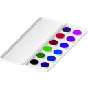 download Watercolors clipart image with 225 hue color
