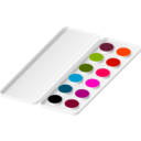 download Watercolors clipart image with 315 hue color