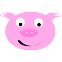 download Cerdo Pig clipart image with 315 hue color