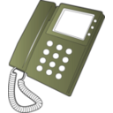 download Desk Phone clipart image with 45 hue color