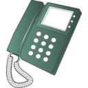 download Desk Phone clipart image with 135 hue color