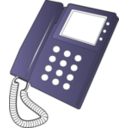 download Desk Phone clipart image with 225 hue color