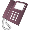 download Desk Phone clipart image with 315 hue color