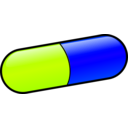 download Pill clipart image with 225 hue color
