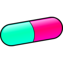 download Pill clipart image with 315 hue color