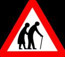 Roadsign Old Folks
