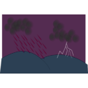 download Storm clipart image with 90 hue color