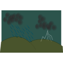 download Storm clipart image with 315 hue color