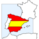 Spain Map And Flag
