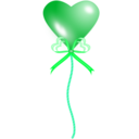 download Heart Balloon clipart image with 135 hue color