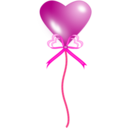 download Heart Balloon clipart image with 315 hue color
