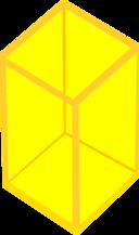 Yellow Transparent Cube