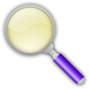 download Magnifying Glass clipart image with 225 hue color