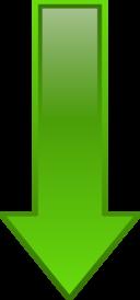 Arrow Down Green