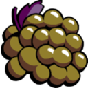 download Grapes clipart image with 135 hue color