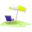 download Beach Scene clipart image with 45 hue color
