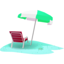 download Beach Scene clipart image with 135 hue color