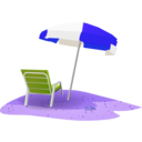 download Beach Scene clipart image with 225 hue color
