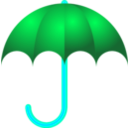 download Umbrella clipart image with 135 hue color