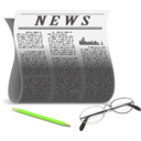 download Newspaper clipart image with 45 hue color