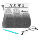 download Newspaper clipart image with 135 hue color