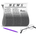 download Newspaper clipart image with 225 hue color