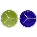 download Clock clipart image with 225 hue color