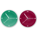 download Clock clipart image with 315 hue color
